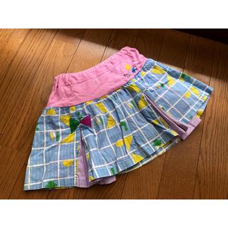 プチジャム(Petit jam)のプチジャム スカート パンツ付き 110 ピンク ブルー (スカート)