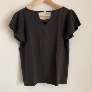 ナノユニバース(nano・universe)のナノユニバース ◆美品◆ デザイン 半袖 トップス (ブラウン系) (Tシャツ(半袖/袖なし))