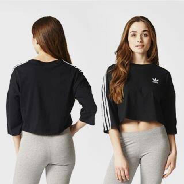 adidas(アディダス)のadidas originals 3STRIPE ワイド カットソー OT レディースのトップス(Tシャツ(長袖/七分))の商品写真