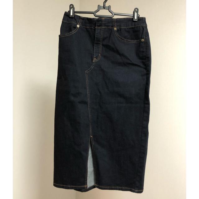 JEANASIS(ジーナシス)のストレッチデニムタイトスカート。 レディースのスカート(ひざ丈スカート)の商品写真