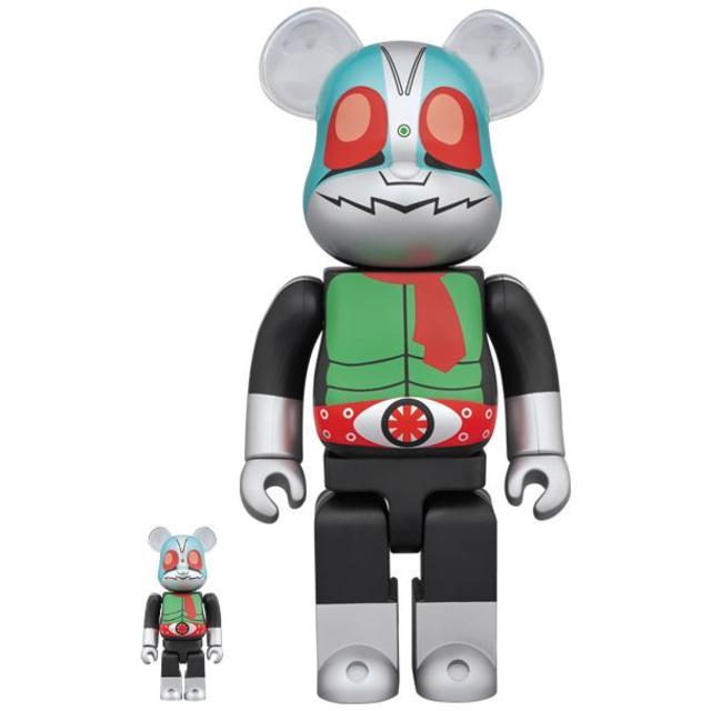 MEDICOM TOY(メディコムトイ)の新品 BE@RBRICK 仮面ライダー新1号 100% 400% 石ノ森章太郎 エンタメ/ホビーのおもちゃ/ぬいぐるみ(キャラクターグッズ)の商品写真