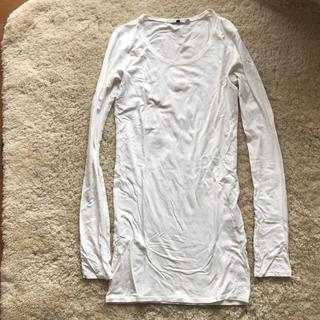 ルシェルブルー(LE CIEL BLEU)のルシェルブルー、アンシャントマンホワイトロング丈長袖Tシャツ☆(Tシャツ(長袖/七分))