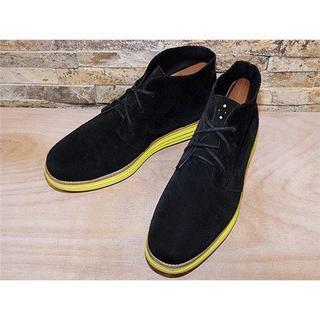 コールハーン(Cole Haan)の美品 コールハーン ルナグランド チャッカブーツ 黒 28cm(ブーツ)