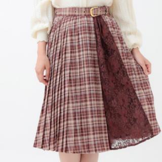 リズリサ(LIZ LISA)のチェックプリーツスカート(ロングスカート)