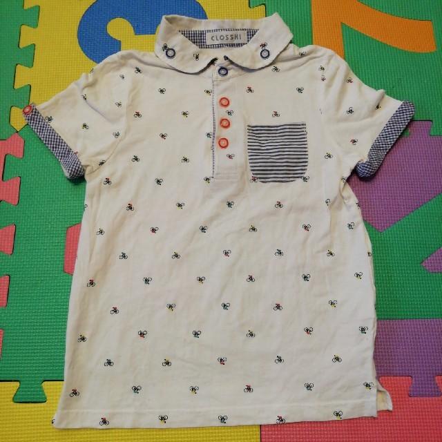 しまむら(シマムラ)のTシャツ ポロシャツ130 キッズ/ベビー/マタニティのキッズ服 男の子用(90cm~)(Tシャツ/カットソー)の商品写真