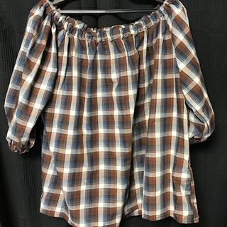 ジーユー(GU)のチェック 半袖(シャツ/ブラウス(半袖/袖なし))