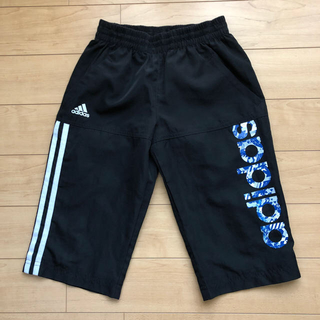 アディダス(adidas)のアディダス ハーフパンツ 130 黒 ブラック(パンツ/スパッツ)