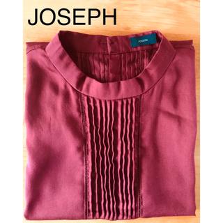 ジョゼフ(JOSEPH)のJOSEPH  ジョゼフ。 フレンチスリーブ、コットンサテン、上質な大人ブラウス(シャツ/ブラウス(半袖/袖なし))