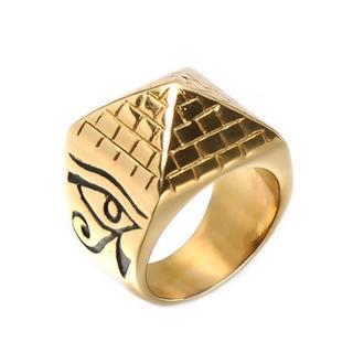 ピラミッド リング 指輪 ゴールド(リング(指輪))