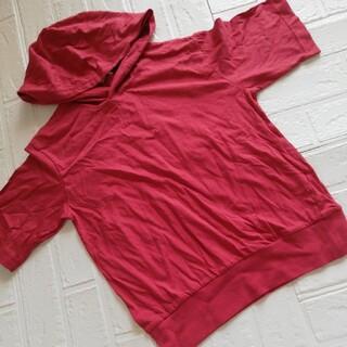 ジーユー(GU)のGU☆半袖フードTシャツ 140(Tシャツ/カットソー)