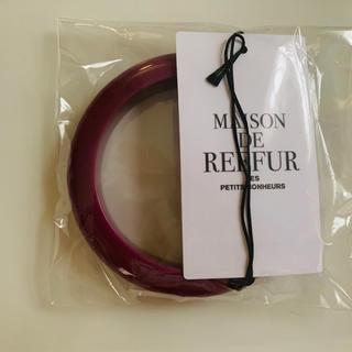 メゾンドリーファー(Maison de Reefur)のMAISON DE REEFUR*パープルアクリルバングル新品タグあり(ブレスレット/バングル)