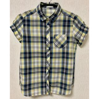 ジーユー(GU)の【GU】美品 半袖 チェックシャツ ブラウス(シャツ/ブラウス(半袖/袖なし))