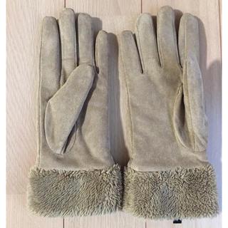ユニクロ(UNIQLO)のUNIQLO スエードタッチグローブ L(手袋)