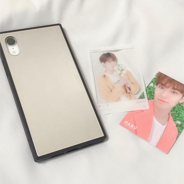kate spade 手帳 iphone | iPhone XR glass hybrid case +ミンギュトレカの通販 by meg0267|ラクマ