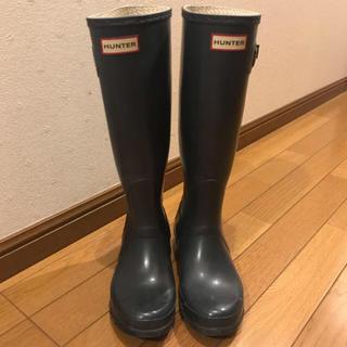 ハンター(HUNTER)のHUNTER レインブーツ 雨の日ブーツ♡ネイビー23.5〜24(レインブーツ/長靴)