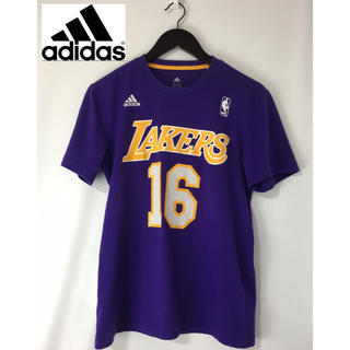 アディダス(adidas)のadidas アディダス NBA ロサンゼルスレイカーズ 半袖Tシャツ 紫×黄M(Tシャツ/カットソー(半袖/袖なし))