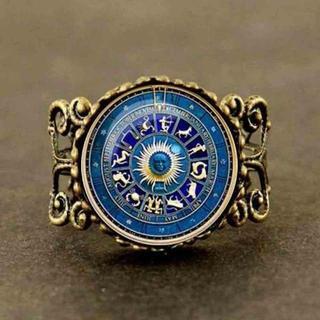 星座 ゾディアックサイン ブルー リング 指輪(リング(指輪))
