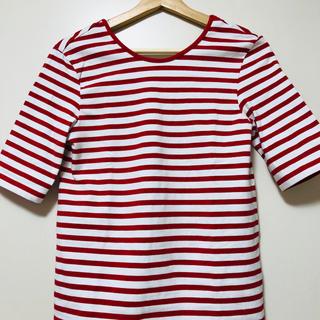 ノーブル(Noble)のバックオープン ボーダーTシャツ(Tシャツ(半袖/袖なし))
