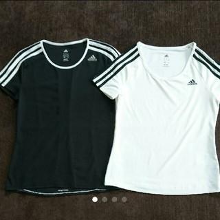 アディダス(adidas)の【adidas】アディダス レディース速乾Tシャツ2枚セット150-160中古(その他)