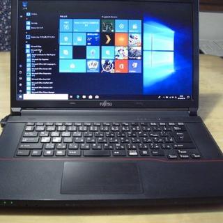 フジツウ(富士通)の値下げ 薄型スタイリッシュPC Win10とオフィス 320GB(ノートPC)