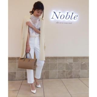 ノーブル(Noble)のNOBLE ハイウエストパンツ ホワイト 34 ノーブル (カジュアルパンツ)