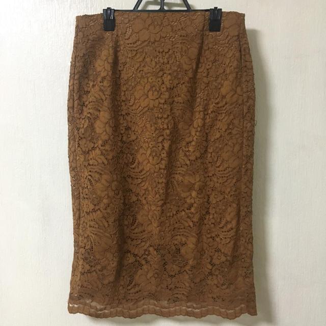 GU(ジーユー)のレースタイトスカート レディースのスカート(ひざ丈スカート)の商品写真
