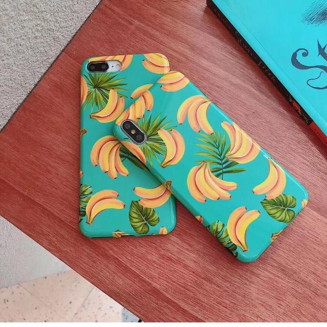 iphone8 シリコン ケース 透明 | トロピカル、バナナ iPhone XS/XR/MAXカバーケースの通販 by happy2013|ラクマ