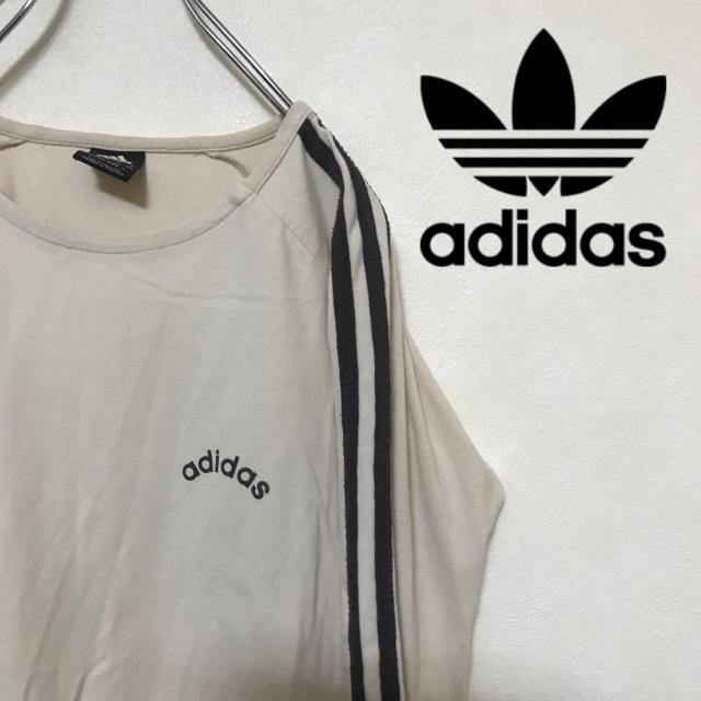 adidas(アディダス)のadidas アディダス ロンT Tシャツ 胸ロゴ スリーストライプス レディースのトップス(Tシャツ(長袖/七分))の商品写真