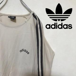 アディダス(adidas)のadidas アディダス ロンT Tシャツ 胸ロゴ スリーストライプス(Tシャツ(長袖/七分))