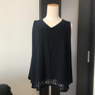 シマムラ(しまむら)のタグ付き★裾レーストップス(カットソー(半袖/袖なし))