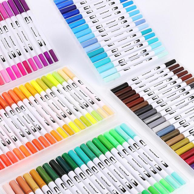 コピック 代用に チップブラシペン100色セット エンタメ/ホビーのアート用品(カラーペン/コピック)の商品写真