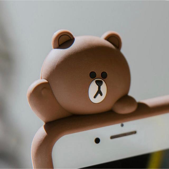 iphone 8 ケース 充電 | ラスト1個 新品iphone  XR カバー、ケース ラインブラウンの通販 by penpenショップ❤️|ラクマ