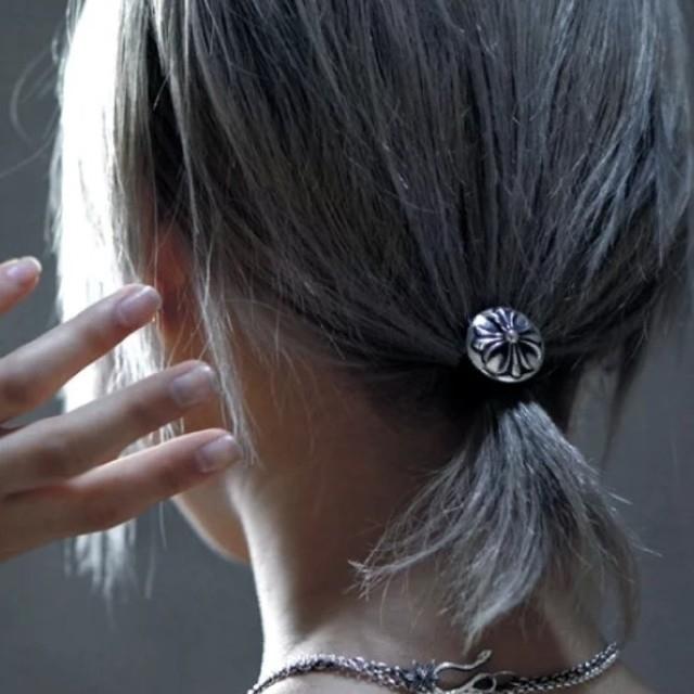 Chrome Hearts(クロムハーツ)のCHROME HEARTS クロムハーツ クロスボール ヘアゴム  レディースのヘアアクセサリー(ヘアゴム/シュシュ)の商品写真