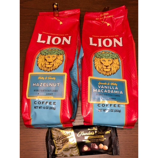 ライオン(LION)のTC様専用です。バニラマカダミアとヘーゼルナッツ、トーステッドココナッツのセット(コーヒー)