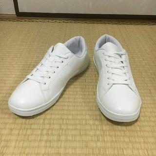 【新品・サイズ多数】メンズ 26cm スニーカー シューズ 靴 白 (スニーカー)