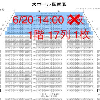 三代目 J Soul Brothers - 6/20 14:00 漫画みたいにいかない チケット 1枚