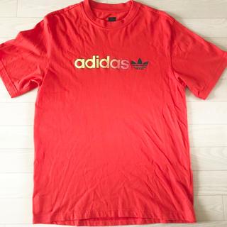 アディダス(adidas)の★未使用★adidas オリジナルス Tシャツ オレンジ M〜L メンズ(Tシャツ/カットソー(半袖/袖なし))