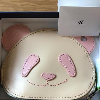 ヨンドシー(4℃)の4℃ パンダコインケース ピンク 外箱付属 未使用品 ANA 中国 機内販売限定(コインケース)