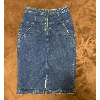 オゾック(OZOC)のハイウエストデニムスカート(ひざ丈スカート)