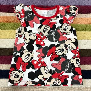 Disney - ミニーマウス✩袖フリルトップス