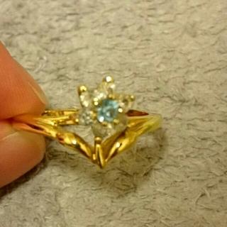 リング ブルーのお花(リング(指輪))