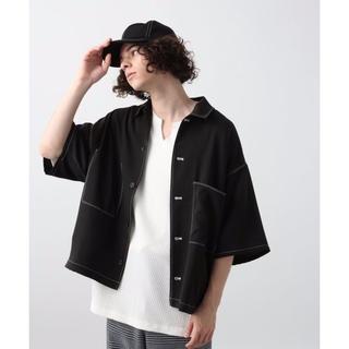 HARE - HARE ステッチシャツ ブラック ビッグデザイン