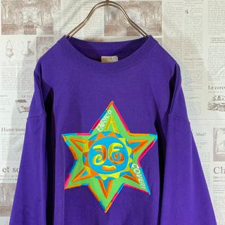古着 一点物 スウェット サンフェイス 刺繍 太陽 レトロ(スウェット)