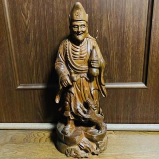 緑檀 老人仏像 香木 48cm 木彫り 置物 オブジェクト