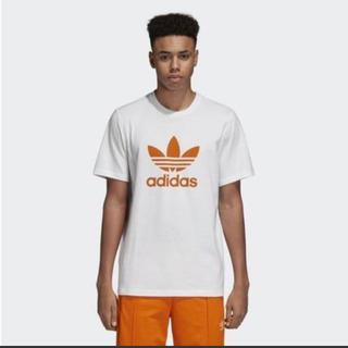 アディダス(adidas)の新品 ADIDAS トレフォイル 半袖Tシャツ Lサイズ ロゴプリント(Tシャツ/カットソー(半袖/袖なし))