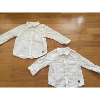 ザラ(ZARA)のザラ ベビー  シャツ 二枚セット 80 100(Tシャツ/カットソー)