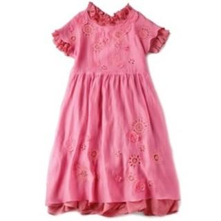 JaneMarple - ドンルサロンspeaking flower tablier dress ピンク