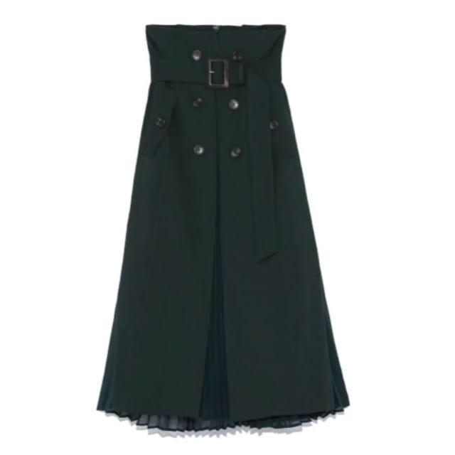 FRAY I.D(フレイアイディー)のフレイアイディー プリーツコンビフレアースカート レディースのスカート(ロングスカート)の商品写真