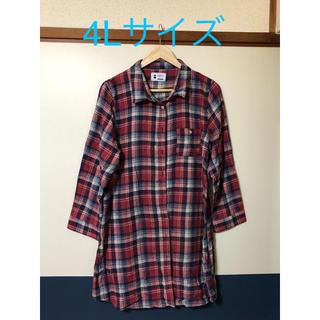 シマムラ(しまむら)のチェック柄 長袖シャツ 4Lサイズ(シャツ/ブラウス(長袖/七分))