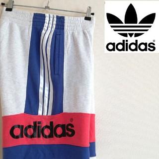 アディダス(adidas)の【激レア】アディダス ビックロゴ☆ハーフパンツ スウェットパンツ デサント90s(ショートパンツ)